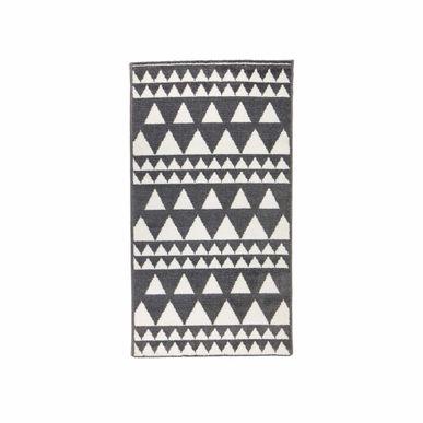 Tapis Motif Scandinave Noir Et Blanc Ossa 60x110 Cm Kalico