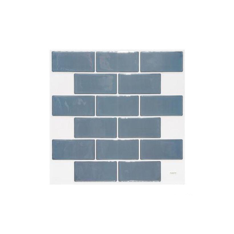 Sticker briques carrelage bleues