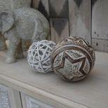 Boule décorative osier D.8cm