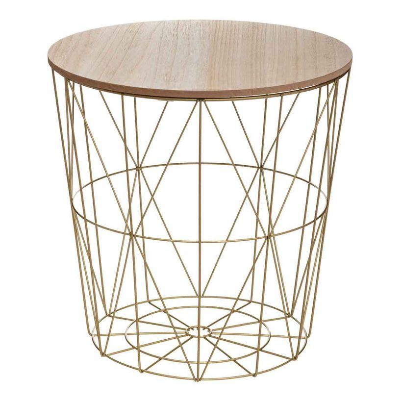 Table basse Maxa dorée
