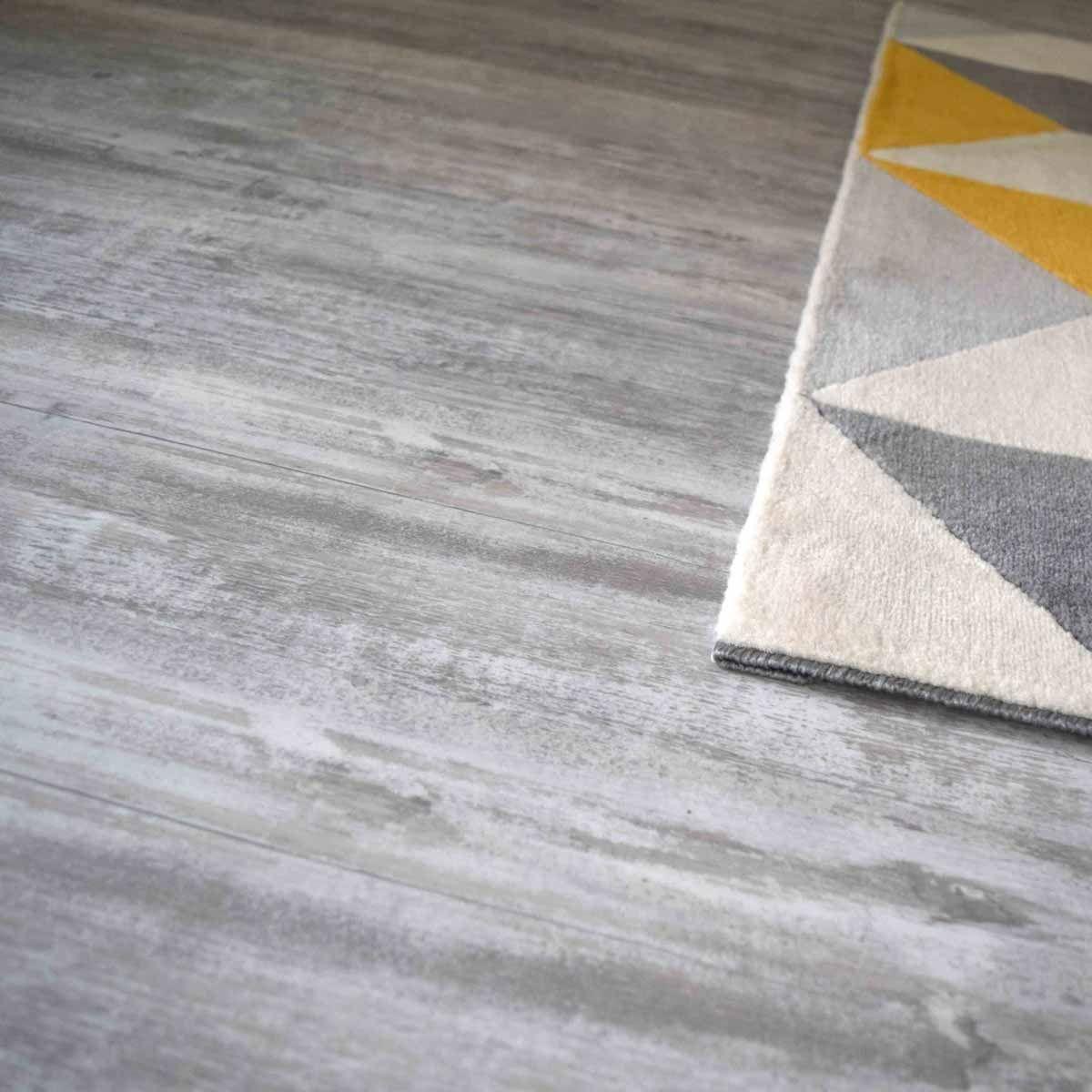 Lame PVC clipsable effet vintage grisé 5,5mm Cortina