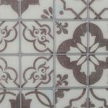 Sticker carrelage grands carrés gris