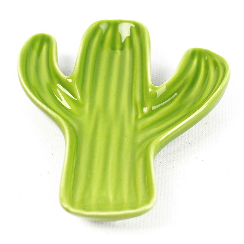 Vide poche cactus vert