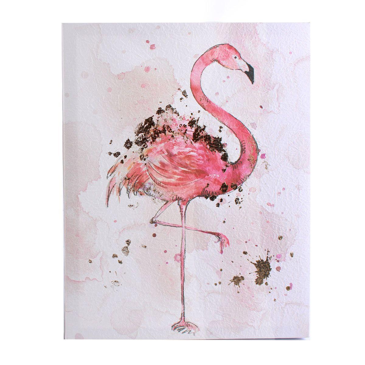 Toile peinte flamingo