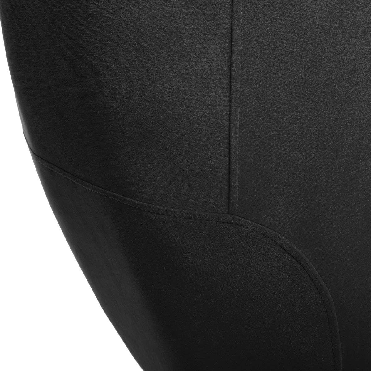 Fauteuil en velours plissé noir