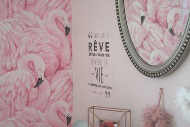 Flamant Papier Rose Devon DuplexKalico Peint nPOX0w8k