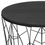Table basse feuille noire tropicale Maxa