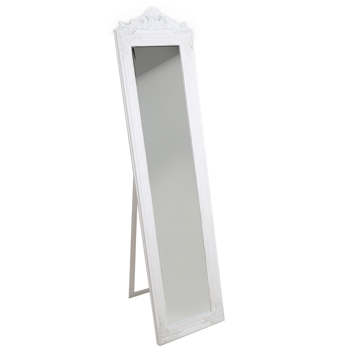 Miroir sur pied Louise blanc