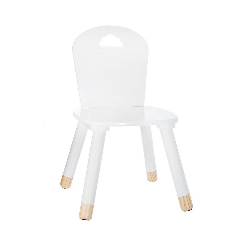Chaise enfant douceur blanche