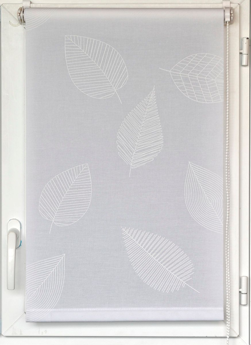Store enrouleur Elva feuille blanche 90x180cm