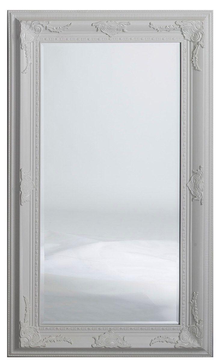 Miroir ornement argent
