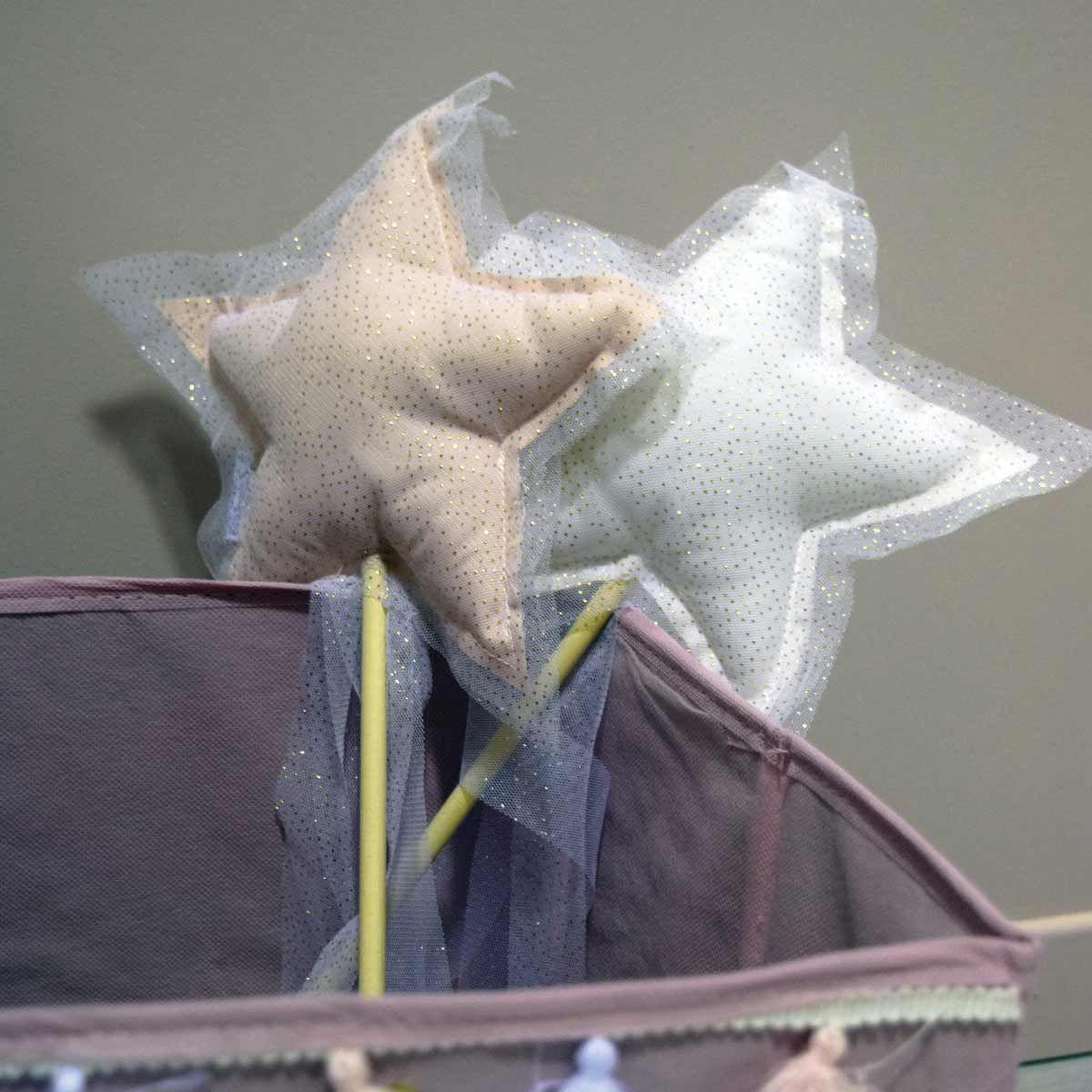 Baguette magique pailleté en tissu