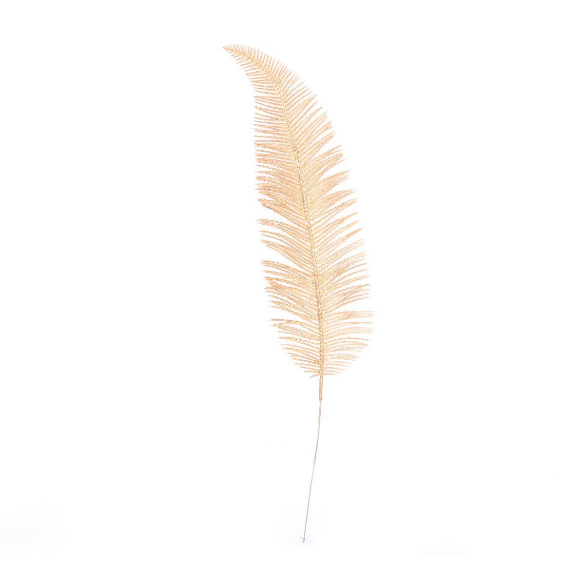 Tige plume dorée H.40 cm