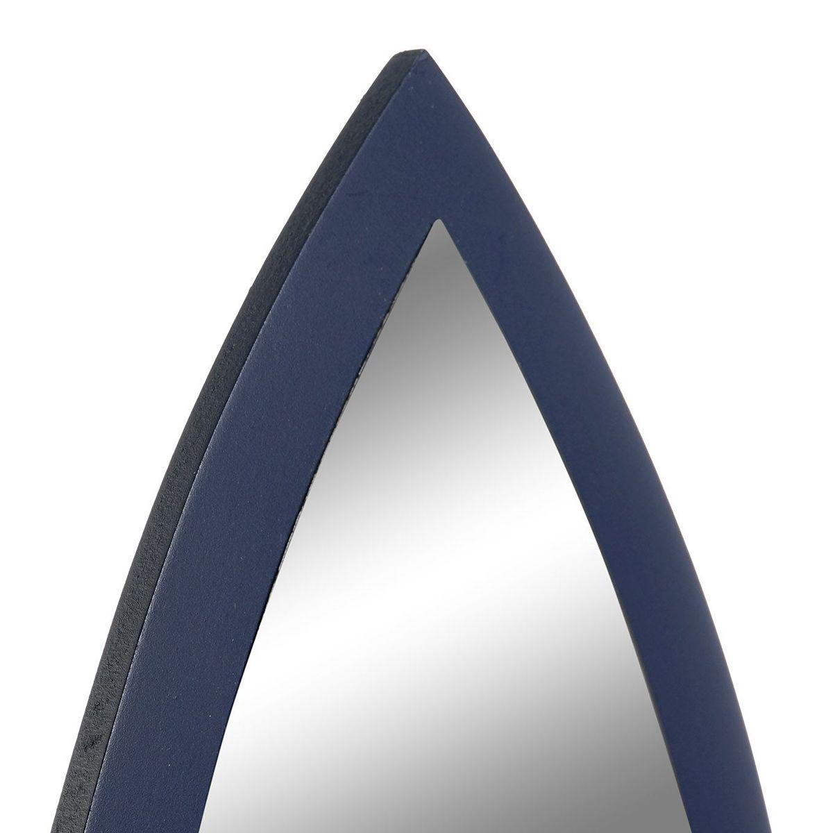 Miroir enfant fusée bleu
