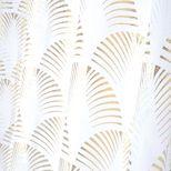 Voilage doré métallisé Eventail 140x260 cm