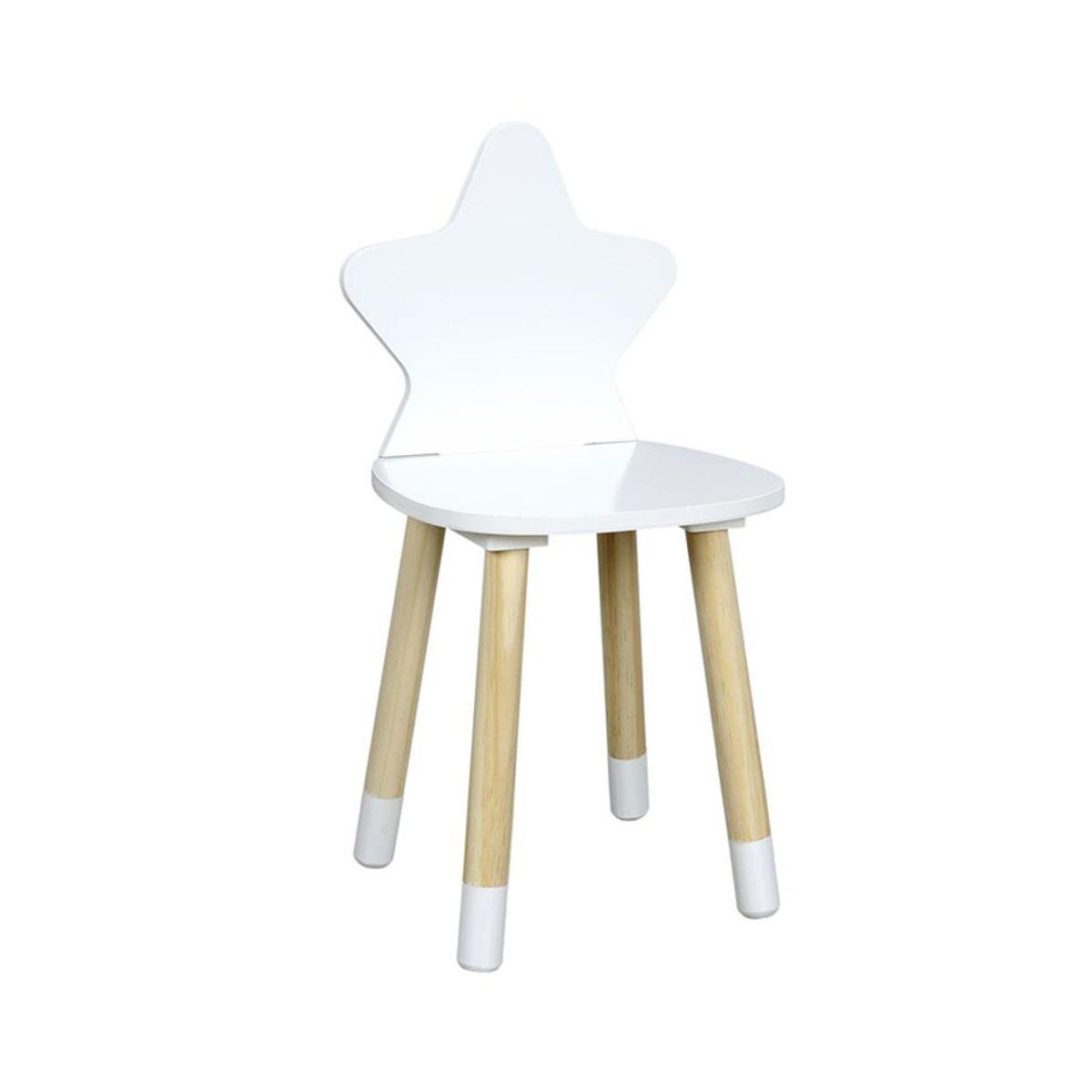 Chaise enfant étoile blanche