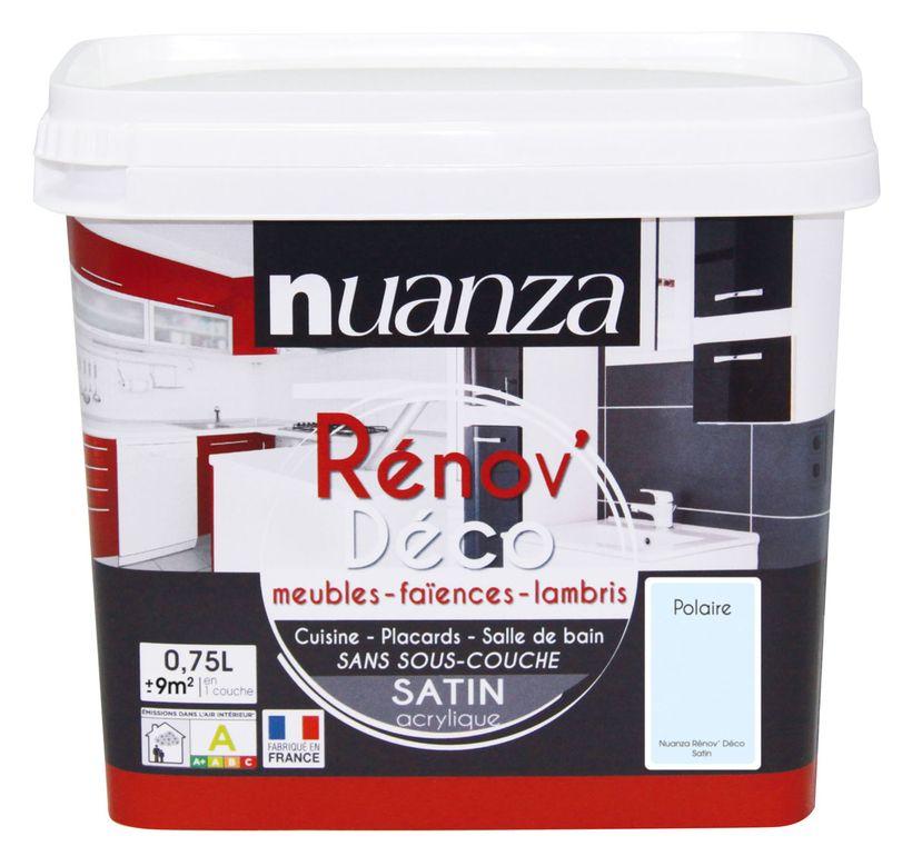 Peinture rénovation satin polaire Nuanza 0.75l