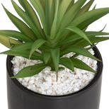 Plante artificielle pot effet marbre