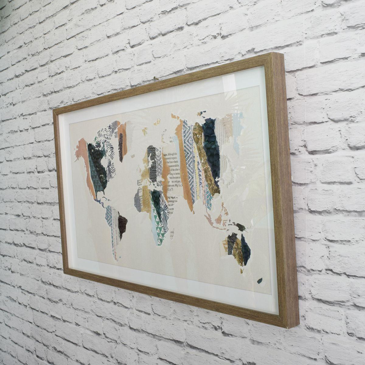 Cadre en verre mappemonde
