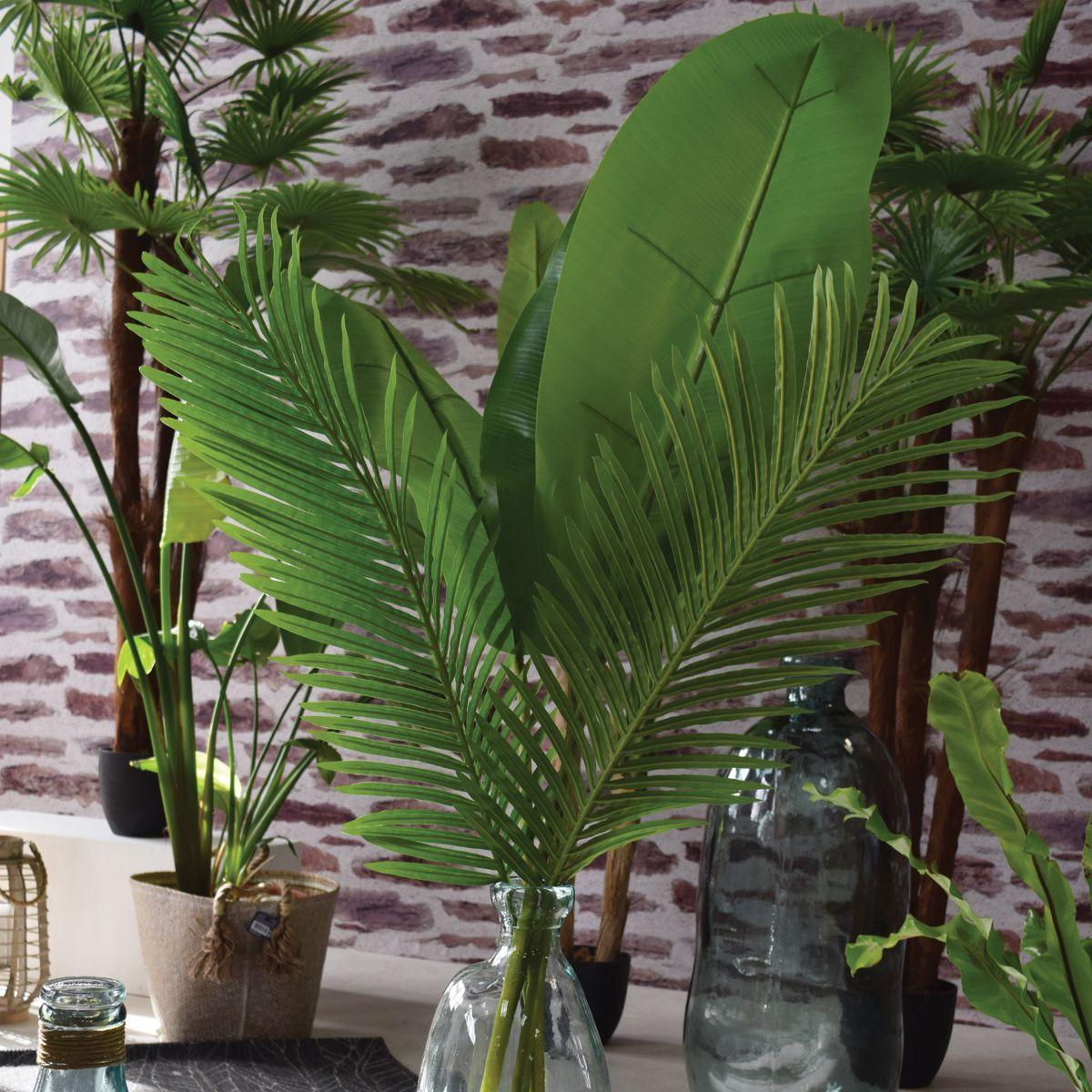 Feuille de palmier artificielle H. 113 cm