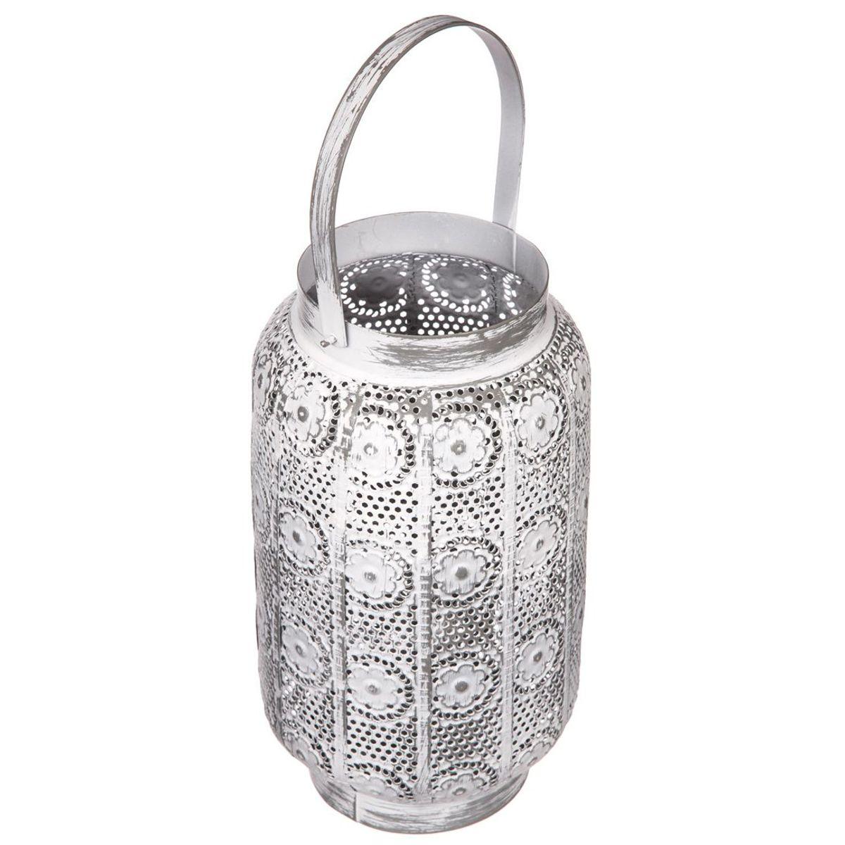 Lanterne photophore maroc argente