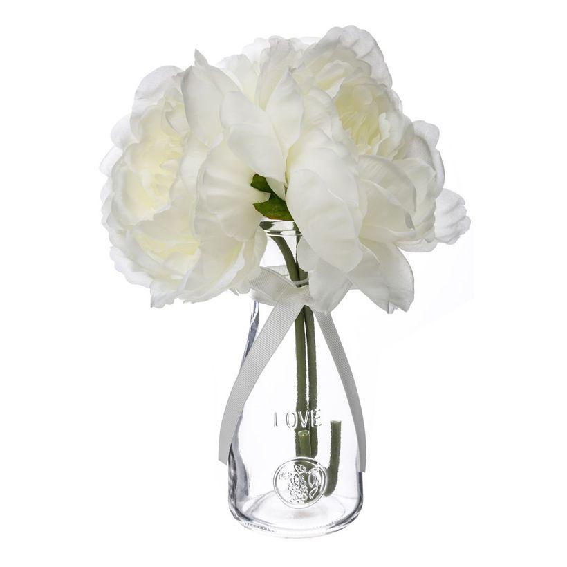 Vase fleur 3 pivoines