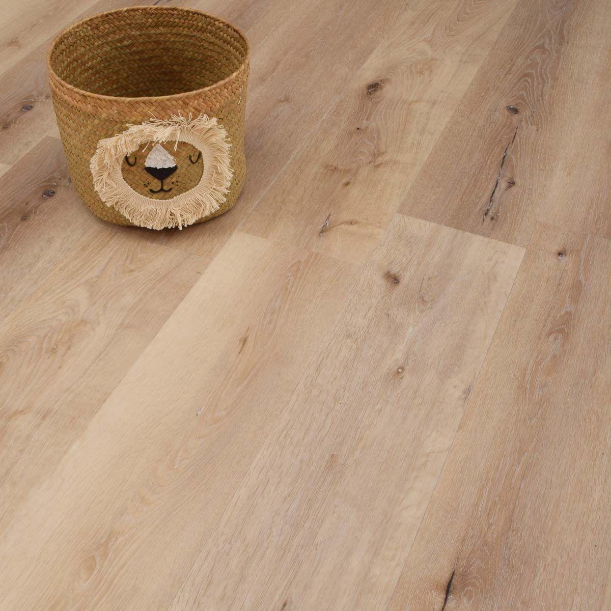Lame PVC clipsable bois beige rustique 6mm Licata