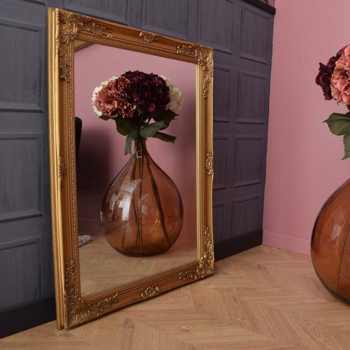 Miroir ornement doré petit modèle