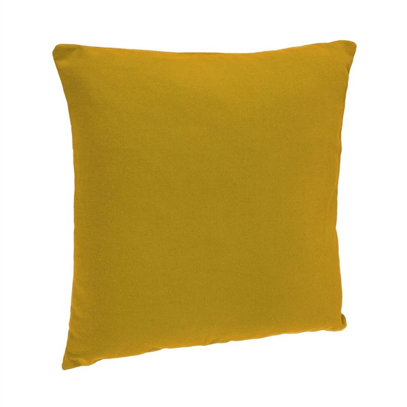 Coussin jaune moutarde Arki 38x38 cm