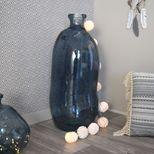 Vase bouteille bleu en verre recyclé H. 73 cm