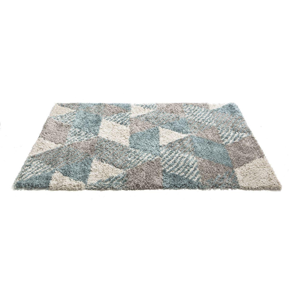 Tapis Makalu triangle bleu 120x170cm
