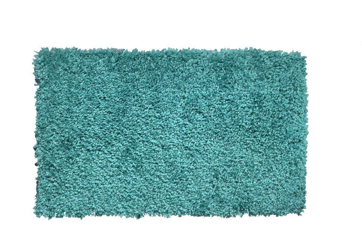 Tapis shaggy bleu caraibe Softy 60x110 cm