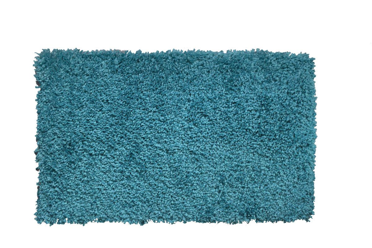 Tapis shaggy bleu canard Softy 120x170 cm