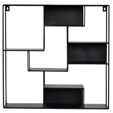 etagere murale metal indus noir kalico. Black Bedroom Furniture Sets. Home Design Ideas