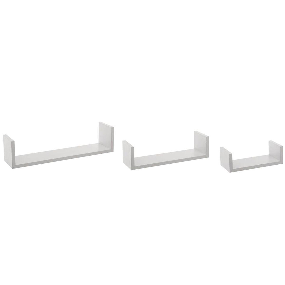 Etagère à bords x3 blanc