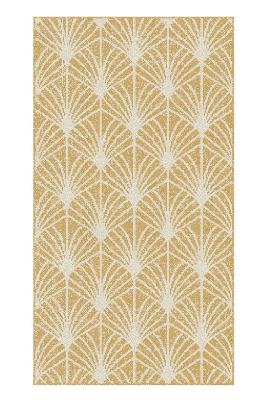 Tapis moderne eventail or Maoke 60x110 cm
