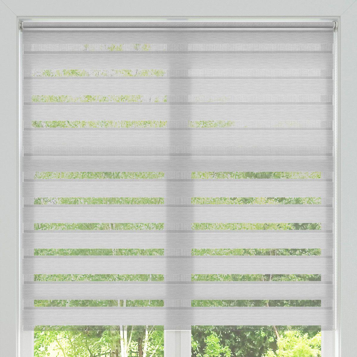 Store Jour-Nuit structuré ligné blanc Tam 90x190 cm