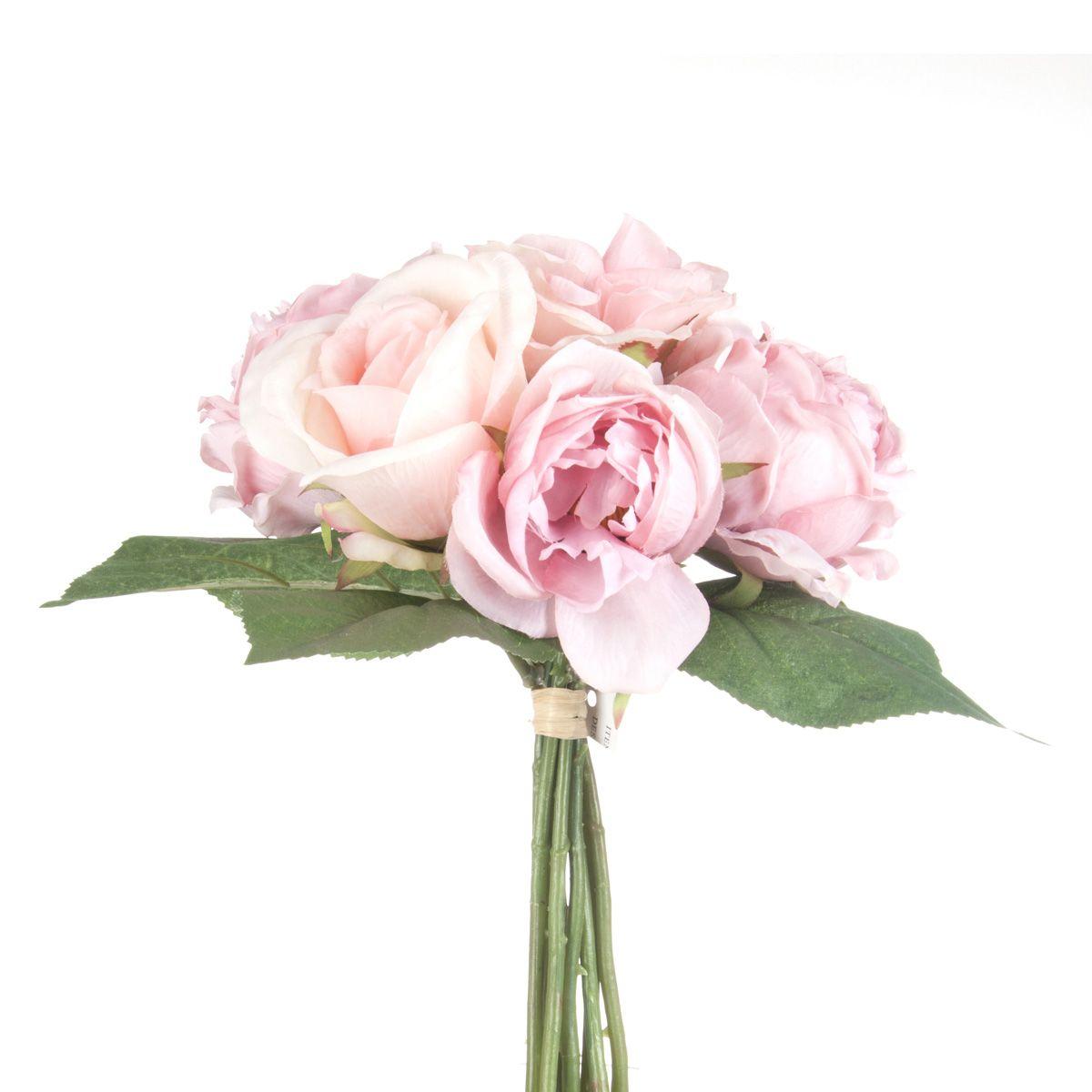 Bouquet de roses anciennes artificielles