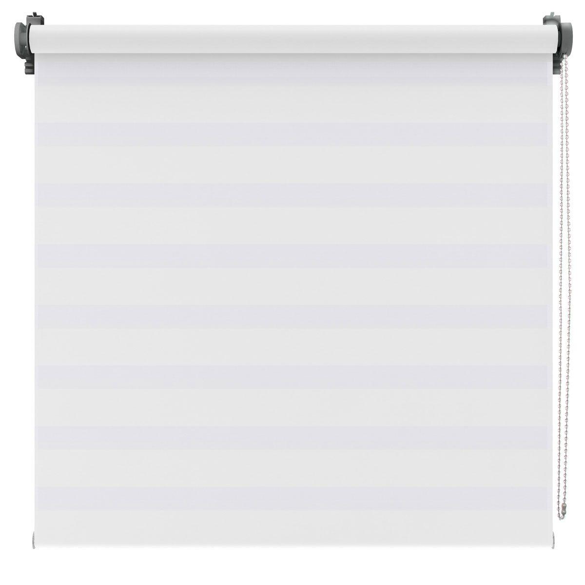 Store Jour-Nuit métallisé blanc Kov 120x190 cm