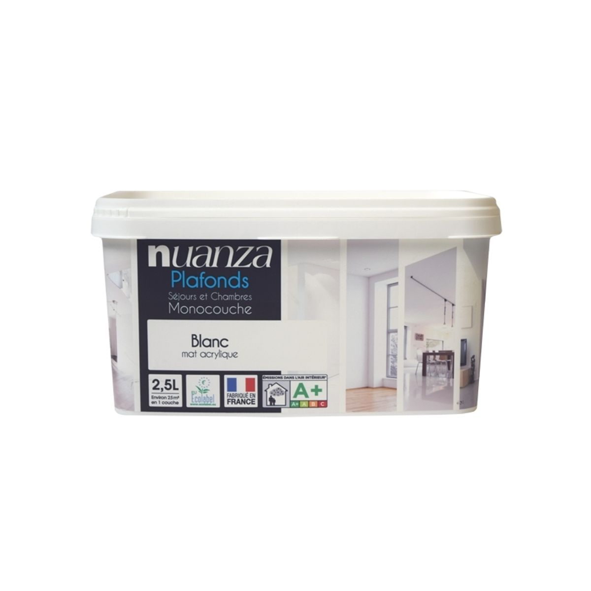 Peinture plafond blanc Nuanza 2.5l