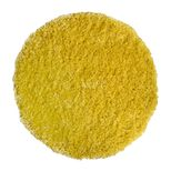 Tapis rond shaggy jaune moutarde Softy 60 cm