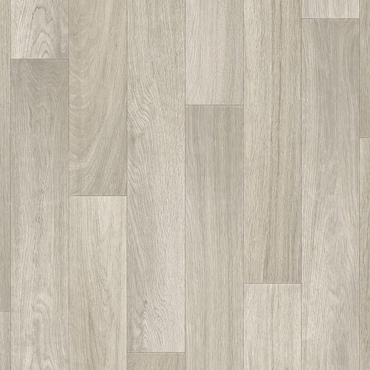 Sol PVC bois taupe cérusé gris Belluno 400cm