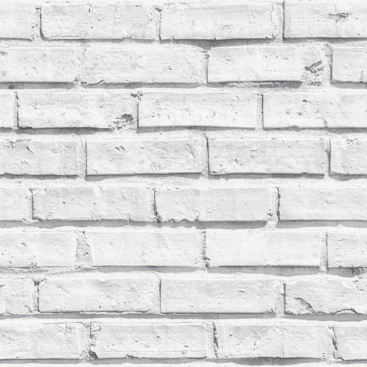 Papier peint brique blanc Lanebrick duplex