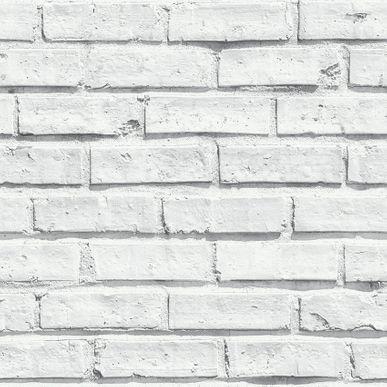 Papier Peint Brique Blanc Lanebrick Duplex Kalico