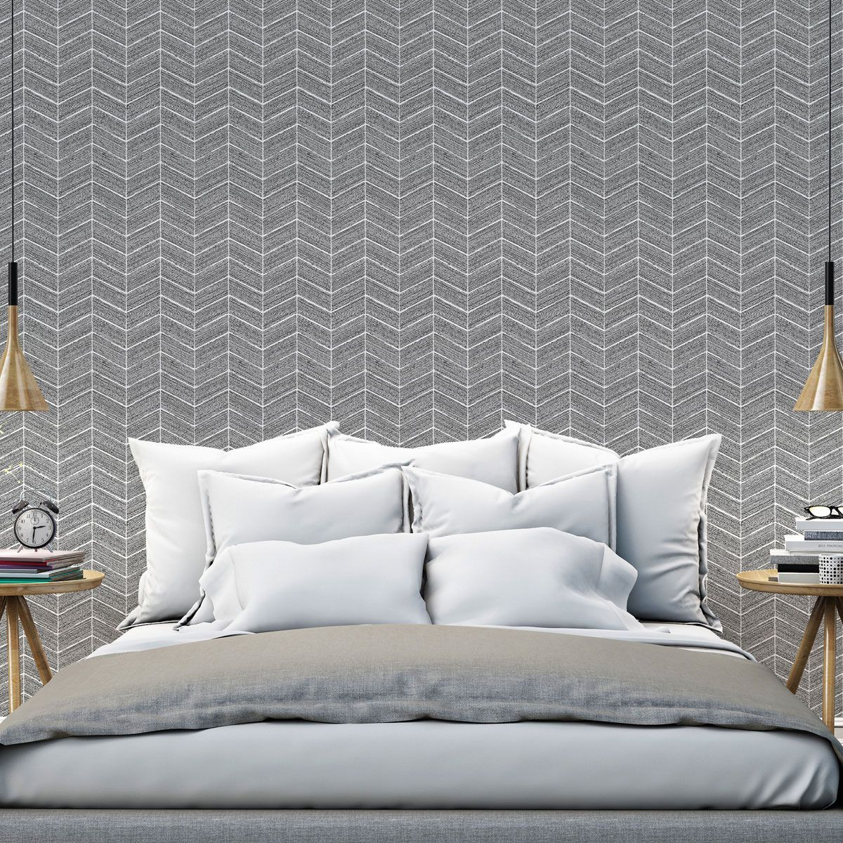 papier peint vinyl intiss himley noir kalico. Black Bedroom Furniture Sets. Home Design Ideas