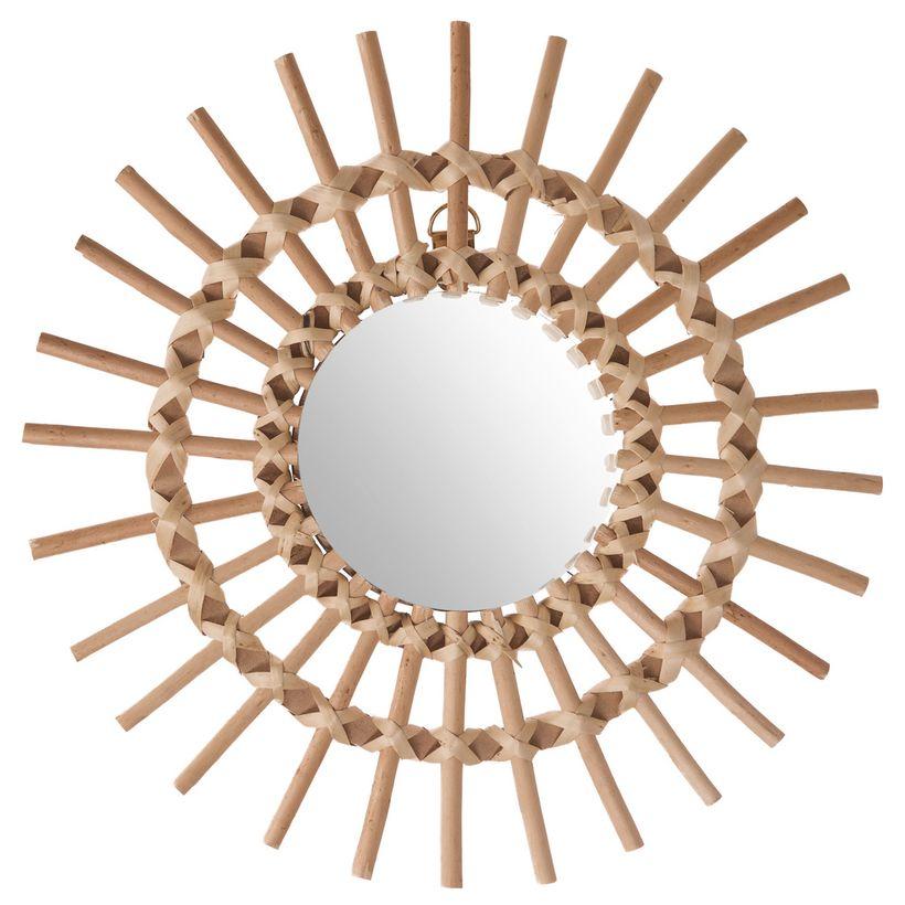 Miroir rotin soleil naturel