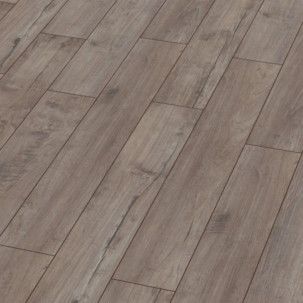Parquet stratifié bois taupe grisé 8mm Vermont