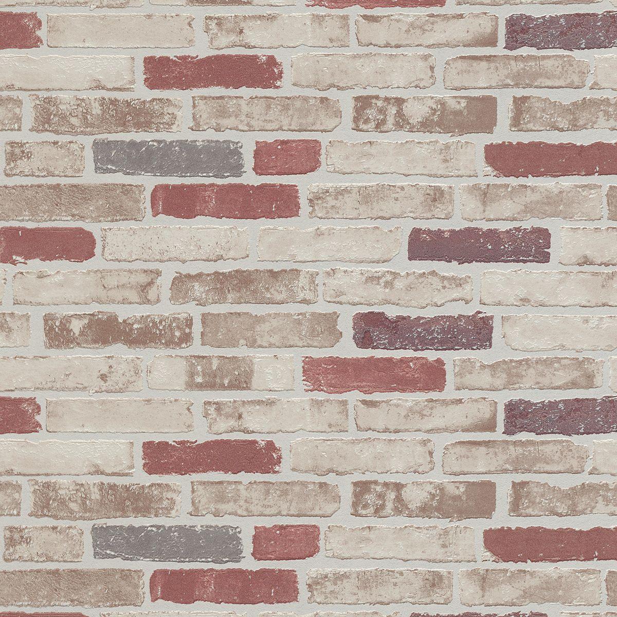 Papier peint vinyl intissé Brique bricktop marron glacé 53cmx10.05m