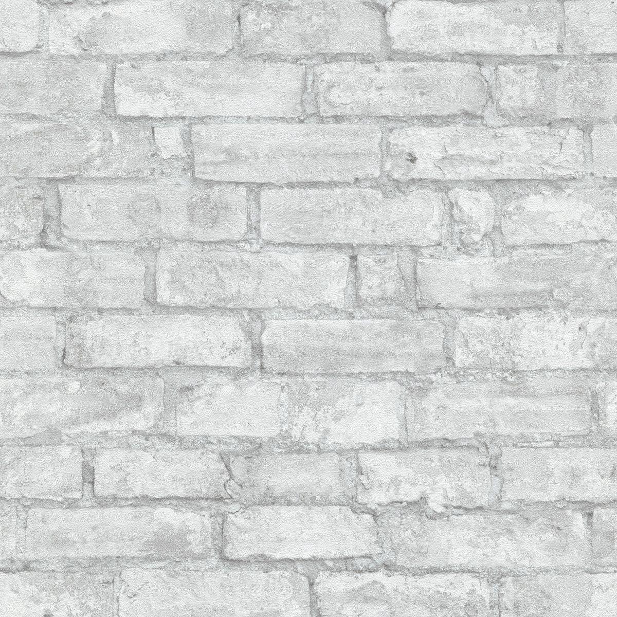 Papier peint vinyl intissé brique blanche Cloverbrick