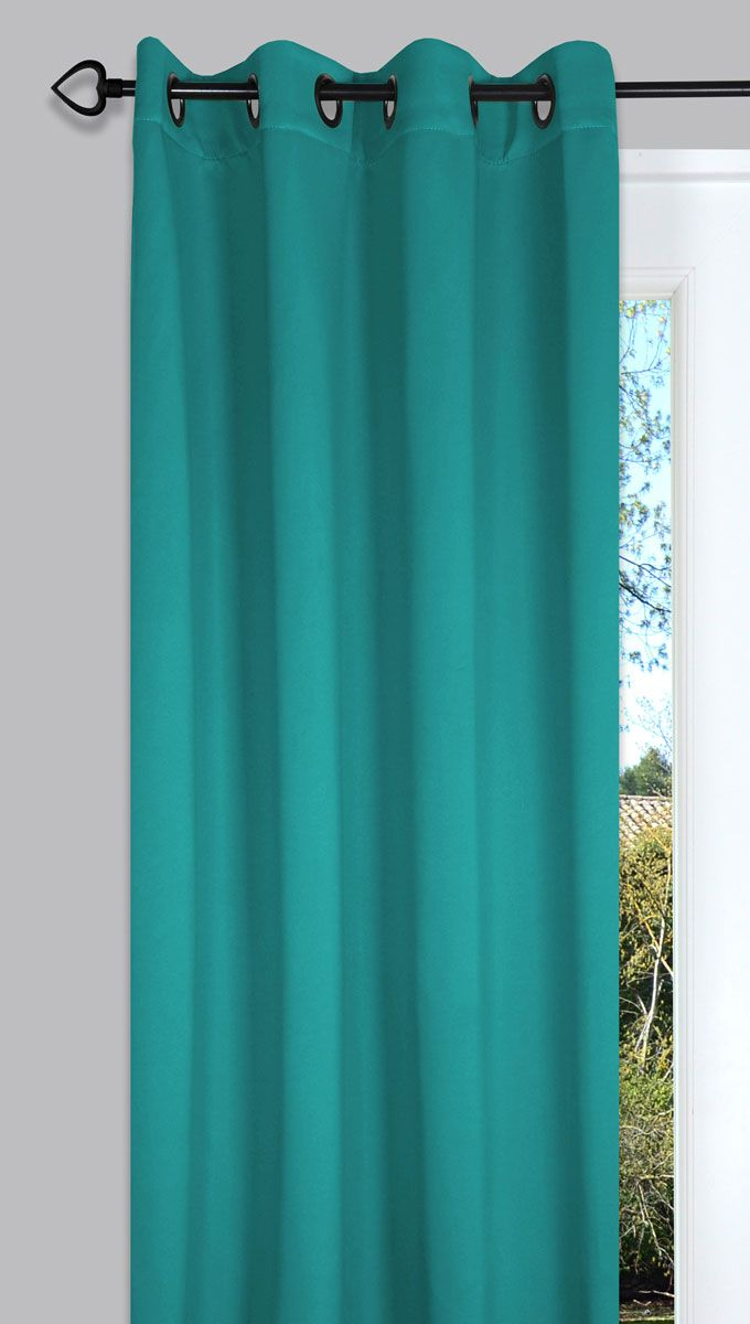 rideau occultant bleu turquoise night 135x260 cm kalico. Black Bedroom Furniture Sets. Home Design Ideas